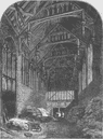 ELTHAM. Hall of Eltham Palace, in 1835. London c1880 old antique print picture